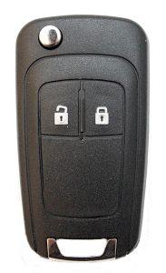 Opel Mokka taito mallinen kaukolukitusavain. Kuopion Kenkä- ja avainapu ohjelmoi avaimet  saman tien mukaan.