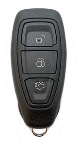 Fordin älyavain, avaimettoman järjestelmän avain. Avain voi olla kuljettajan taskussa käynnistettäessä autoa. Kuopion Kenkä- ja avainapu ohjelmoi avaimet  saman tien mukaan.