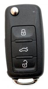 VW kaukoluitusavain. 2011. Kuopion Kenkä- ja avainapu ohjelmoi avaimet  saman tien mukaan.